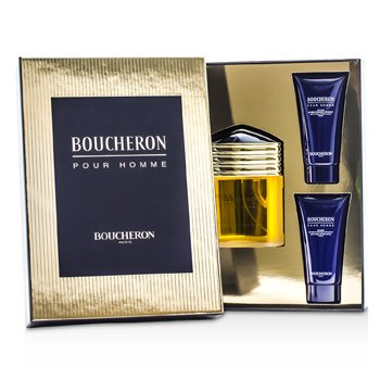 Boucheron Boucheron Coffret: EDP Spray 100ml/3.3oz + 2x Soothing After Shave Balm 50ml/1.6oz 3pcs