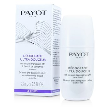 PayotLe Corps Deodorant Ultra Douceur - 24-Hour Anti-Perspirant Roll-On (Alcohol-Free) 75ml/2.5oz