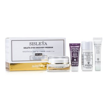 Sisley Sisleya Eyes Discovery Program: Eye & Lip Cream 15ml + Make-Up Remover 30ml + Cream Mask 10ml + Hydra-Global 10ml 4pcs