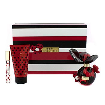 Marc Jacobs Dot Coffret:Eau De Parfum Spray 100ml/3.4oz + Body Lotion 150ml/5.1oz + Eau De Parfum Rollerball 10ml/0.33oz  3pcs