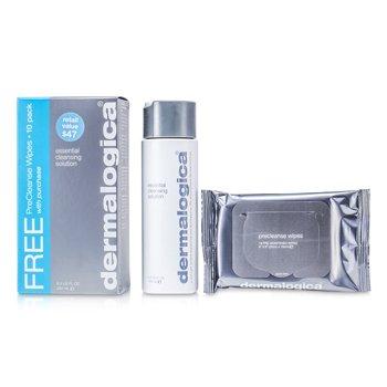DermalogicaSoluci�n Limpiadora Esencial (Regalo Gratis; Paquete de 10 Pa�uelitos Pre Limpiadores) 250ml/8.3oz