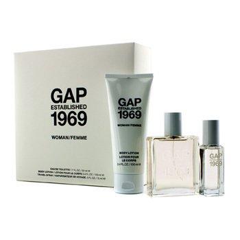 GapEstablished 1969 Woman Coffret: Eau De Toilette Spray 50ml/1.7oz + Travel Spray 15ml/0.5oz + Body Lotion 100ml/3.4oz 3pcs