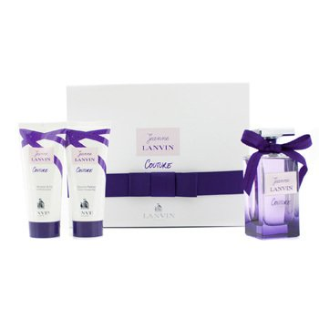 LanvinJeanne Lanvin Couture Coffret: Eau De Parfum Spray 100ml/3.4oz + Body Lotion 100ml/3.3oz + Shower Gel 100ml/3.3oz 3pcs