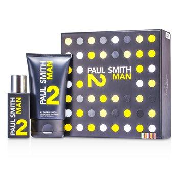 Paul Smith Man 2 Coffret: Eau De Toilette Spray 50ml/1.7oz + All Over Shampoo 100ml/3.3oz 2pcs