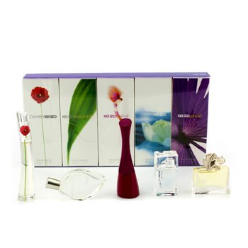KenzoMiniature Coffret: Amour, Flower, Jungle, L'Eau Par Kenzo, Parfum D'Ete 5pcs