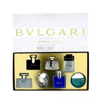 BvlgariMiniature Coffret: BLV II, Jasmin Noir, Mon Jasmin Noir, Omnia Crysrailine, Aqva, BLV, Man 7x5ml/0.17oz