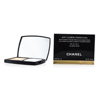 ChanelP� Compacto Mat Lumiere Perfection Long Wear Flawless Makeup SPF25 - # 22 Beige Rose 15g/0.53oz