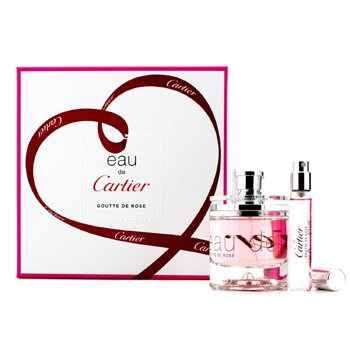 Cartier Eau De Cartier Goutte De Rose Coffret: EDT Spray 50ml/1.6oz + EDT Spray 9ml/0.3oz 2pcs