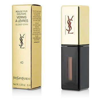 Yves Saint Laurent Rouge Pur Couture Vernis a Levres Glossy Stain – # 40 Beige Peau 6ml/0.2oz