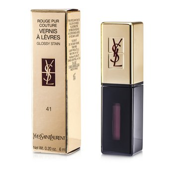 Yves Saint Laurent Rouge Pur Couture Vernis a Levres Glossy Stain – # 41 Brun Cuir 6ml/0.2oz