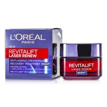 L'Oreal��շ��鹵��ҧ� Revitalift Laser Renew Anti-Ageing Cream-Mask Recovery Treatment Night 50ml/1.7oz