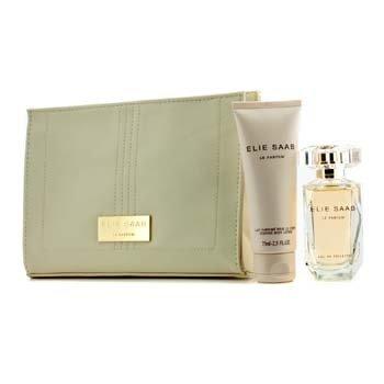 Elie Saab Le Parfum Coffret: Eau De Toilette Spray 50ml/1.6oz + Loci�n Corporal 75ml/2.5oz + Bolso de Belleza  3pcs+1pouch