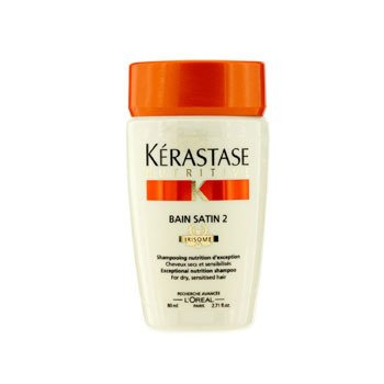 KerastaseNutritive Bain Satin 2 Exceptional Nutrition Shampoo (For Dry, Sensitised Hair) 80ml/2.71oz