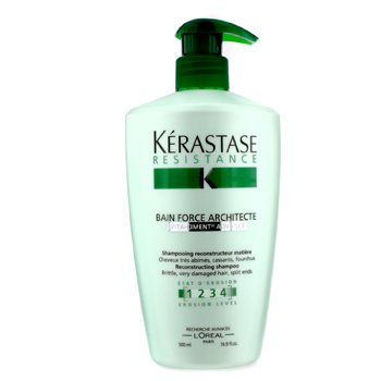 KerastaseResistance Bain Force Architecte Reconstructing Shampoo (For Brittle, Very Damaged Hair, Split Ends) 500ml/16.9oz