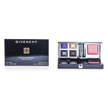 GivenchyPalette Extravagancia Lip & Eye (4xEyeshadow, 1xLipstick, 2xApplicator) - # Harmonie Extravagancia