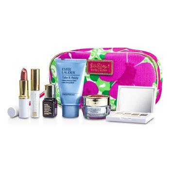 Estee LauderSet de Maquillaje: Removedor de Maquillaje + Resilience Lift Crema de Rostro & Cuello + ANR II + Paleta de Sombras de Ojos + M�scara #01 + Pintalabios #83 + Bolso 6pcs+1bag