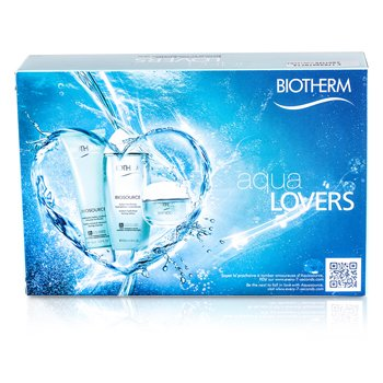 BiothermAquasource Aqualover Starter Kit: Serum 7ml + Lotion 30ml + Gel 20ml + Body Milk 10ml 4pcs
