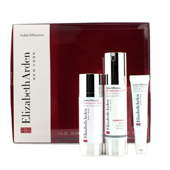 Elizabeth ArdenKit Visible Difference: Lo��o SPF15 50ml + Serum 30ml + Gel Para Olhos 15ml 3pcs
