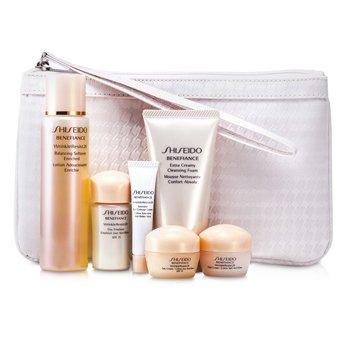 Benefiance Travel Set: Enriched 75ml+Cleansing Foam 50ml+Emuision 15ml+Day Cream 10ml+Night Cream 10ml+ Eye Cream 5ml+Pouch