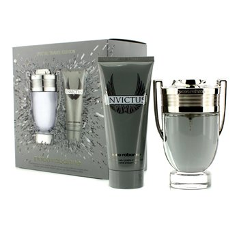Paco Rabanne Invictus Special Travel Edition Coffret: Eau De Toilette Spray 100ml/3.4oz + All Over Shampoo 100ml/3.4oz  2pcs