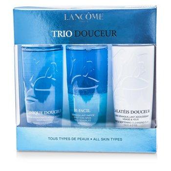 Lanc�meTrio Douceur - Bi-Facil Non Oily Instant Cleanser Sensitive Eyes 125ml + Galateis Douceur Gentle Sof 3pcs