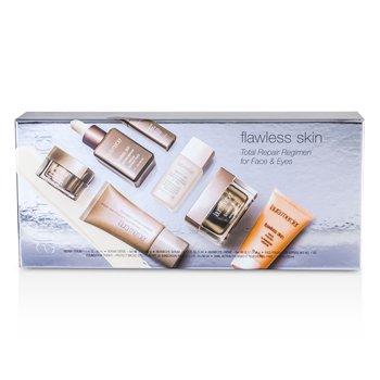 Flawless Skin Total Repair Regimen for Face & Eyes: Creme 30g + Serum 30ml + Eye Makeup Remover 30ml + Face Polish 28g + Eye Cream 5g + Eye Serum 5ml + Primer 30ml