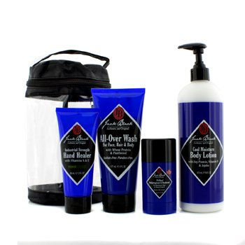 Jack Black Clean & Cool Body Basic Set: All Over Wash 177ml + Hand Healer 88ml + Body Lotion 473ml + Deodorant 78g  4pcs