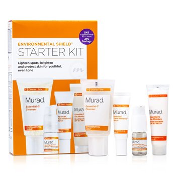 MuradEnvironmental Shield Starter Kit: Cleanser 45ml + Day Moisture SPF 30 21ml + Radiance Serum 10ml + Lightening Serum 7.5ml 4pcs