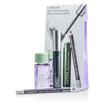 CliniqueHigh Impact Favourites Coffret: High Impact Mascara + Cream Shaper For Eyes + Take The Day Off Makeup Remover 3pcs