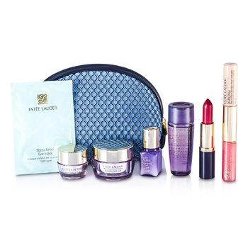 Travel Set: Optimizer + Neck Creme + Perfectionist [CP+R] + Eye Creme + Eye Mask + Lipstick #55 + Lip Gloss #30 & Concealer #02 + Bag