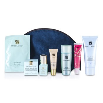 Est�e LauderTravel Set: Perfectly Clean + Optimizer + Idealist Illuminator + Night Creme + Eye Mask + Makeup #36 + Primer + Lip Gloss #07 + Bag 8pcs+1bag