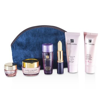 Estee LauderSet de Viaje: Soft Clean 30ml + Optimizer 30ml + Resilience Mask 30ml + Crema de Cuello 15ml + Crema de Ojos 5ml + Acondicionador de Labios + Bolso 6pcs+1bag