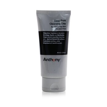 AnthonyLogistics For Men Arcilla Limpiadora de Poros Profundos (Piel Normal a Grasa) 90g/3oz