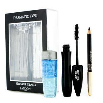 LancomeHypnose Dramatic Eyes Set: Hypnose Drama Mascara + Le Crayon Khol + Bi Facil 3pcs