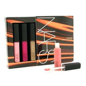 NARS Follow The Boys Lip Gloss Set (4x Mini Lip Gloss)  4x 4g/0.14oz