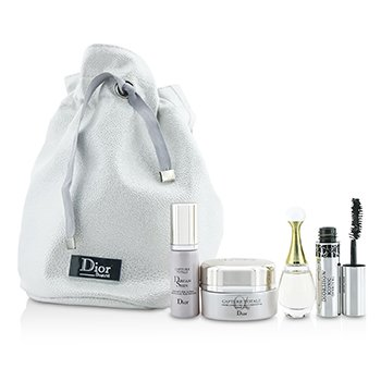 Christian DiorTravel Set: Capture Totale Cream 15ml + Dreamskin 7ml + J'Adore EDP 5ml + Mascara 4ml + Bag 4pcs+1bag