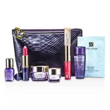 Estee LauderTravel Set: Optimizer + Neck Creme + Perfectionist [CP+R] + Eye Creme + Eye Mask + Lipstick #55 + Lip Gloss #30 & Concealer #02 + Bag 7pcs+1bag
