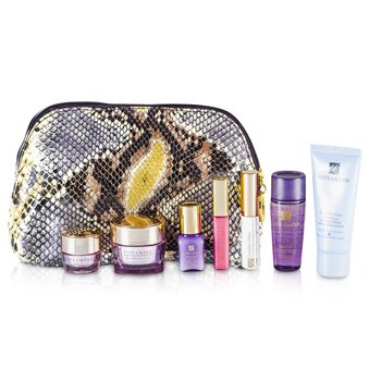 Est�e LauderTravel Set: Cleanser 30ml + Optimizer 30ml + Neck Cream 15ml + Serum 7ml + Eye Cream 5ml + Mascara #01 + Lip Gloss #26 + Bag 7pcs+1bag