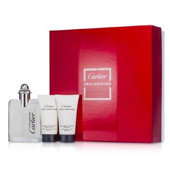 Cartier Declaration Coffret: Eau De Toilette Spray 50ml/1.6oz + Champ� Para Todo 30ml/1oz + Emulsi�n Para Depsu�s de Afeitar 30ml/1oz  3pcs