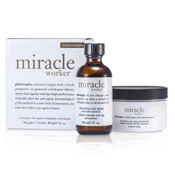 Philosophy Miracle Worker: Solution 60ml/2oz + Pads 60pads  60pads