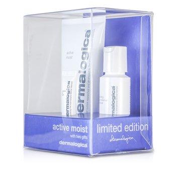 Dermalogica Active Moist Limited Edition Set: Active Moist 100ml + Eye Make-Up Remover 30ml + Eye Repair 4ml 3pcs