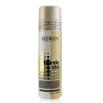 Redken Blonde Idol Custom-Tone Adjustable Color-Depositing Daily Treatment (For Warm or Golden Blondes)  196ml/6.6oz