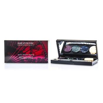 Make Up For Ever Black Tango Palette (4x Crema A Prueba de Agua Para Ojos, 1x Aplicador Doble Punta)  4x1.5g/0.05oz
