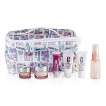 ������Travel Set: Foaming Cleanser + Moisture Surge + Face Spray + City Block SPF 40 + All About Eyes + Lip Gloss #07 + Bag 6pcs+1bag