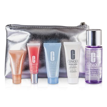Clinique������ �����: ���� ����� + Turnaround ���� + City Block SPF 40 + All About Eyes ���� + ���� ���� #10 + ����� 5pcs+1bag