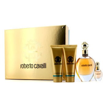 Roberto CavalliRoberto Cavalli (New) Coffret: Eau De Parfum Spray 75ml/2.5oz + Eau De Parfum Spray 5ml/0.17oz + Loci�n Corporal 75ml/3.5oz + Gel de Ducha 75ml/2.5oz 4pcs