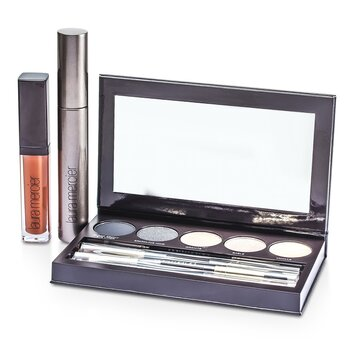 Laura Mercier Classic Smoky Eye Palette Collection (1xMascara  1xLip Glace  1xCake Eye Liner  4xEye Colour  3xBrush) 10pcs