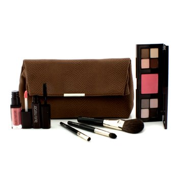 Laura MercierLaura's Beauty Essentials Colour & Brush Collection (1x3 Well Custom Compact, 1xMascara, 1x Lip Glace, 3xApplicator) 6pcs+1bag