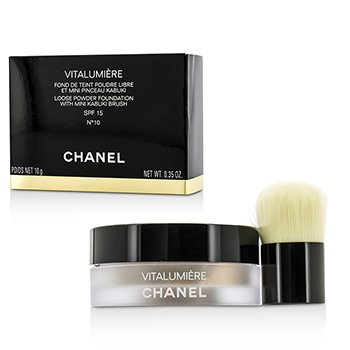 Chanel P� Vitalumiere Loose Foundation SPF15 Com Mini Pincel Kabuki - # 10  10g/0.35oz