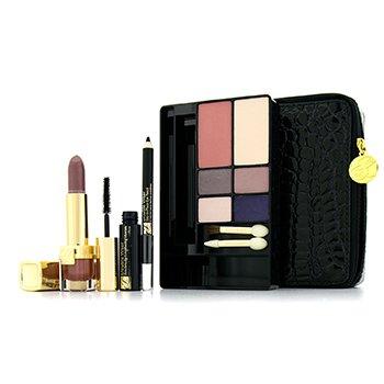 Estee Lauder Modern Chic Face Make Up Palette: 4x Eyeshadow  1x Mascara  1x Eye Pencil  1x Lipstick  1x Pressed P –